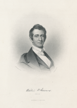 "Engraving by J.C. Buttre based on portrait by Henry Inman, ""William H. Seward: Governor of New York, 1843,"" University of Rochester Rare Books, Special Collections, and Preservation. William Henry Seward Papers: Box 100, Folder 3."