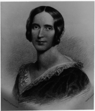 "Engraving by J.C. Buttre based on portrait by Henry Inman, ""Frances Adeline Miller Seward, 1843,"" University of Rochester Rare Books, Special Collections, and Preservation. William Henry Seward Papers: Box 100, Folder 10."