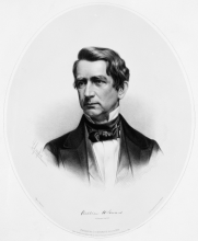 """William Henry Seward, circa 1850s,"" University of Rochester Rare Books, Special Collections, and Preservation. William Henry Seward Papers: Box 100, Folder 1."